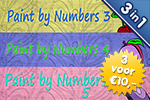 3 voor €10: Paint By Numbers 3 - 4 - 5